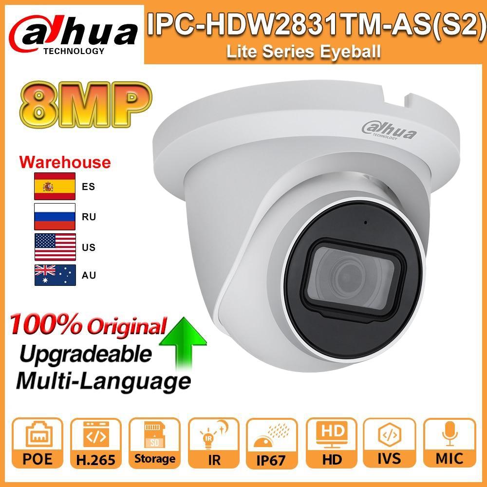 Dahua Original 8MP 4K HD cámara IP IPC-HDW2831TM-AS-S2 IPC PoE IR 30m...