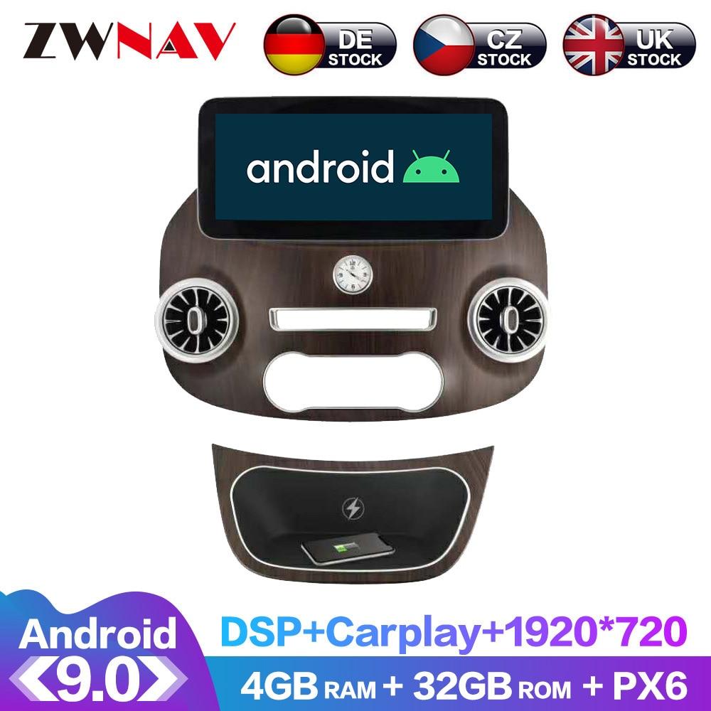 Unidad Principal Android 9 DSP IPS HD pantalla Multimedia para Mercedes Benz VITO Radio, navegación GPS para coche pantalla con Android CarPlay