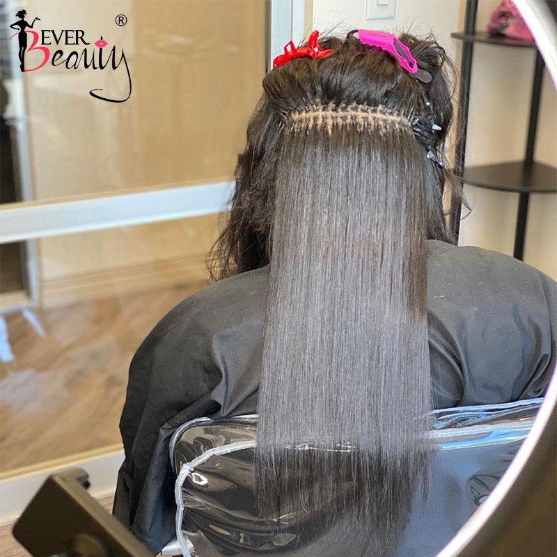 Brazilian Silk Straight I Tip Hair Extensions Microlinks Human Virgin Hair For Black Women I Tip Hai