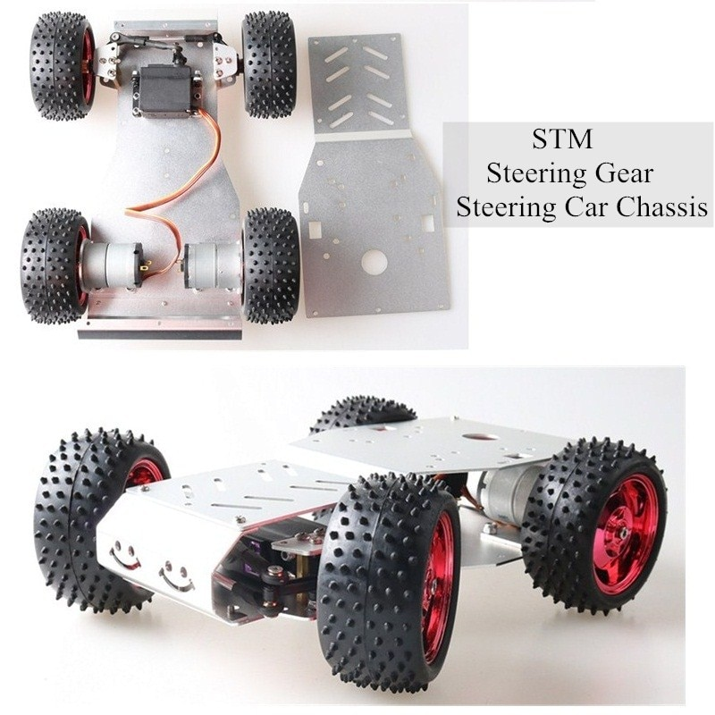 STM 32-محرك تروس ذكي للتحكم عن بعد ، هيكل سيارة دفع رباعي ، محرك ثنائي العجلات ، إطار معدني ، محرك DC