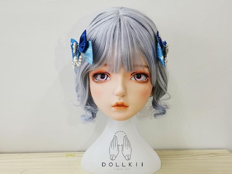 (Dollkii 16) أنثى فتاة السيليكا الراتنج تأثيري BJD الصليب خلع الملابس Kigurumi قناع رأس أنيمي دور اللعب حفلة كروسدرسر دمية قناع