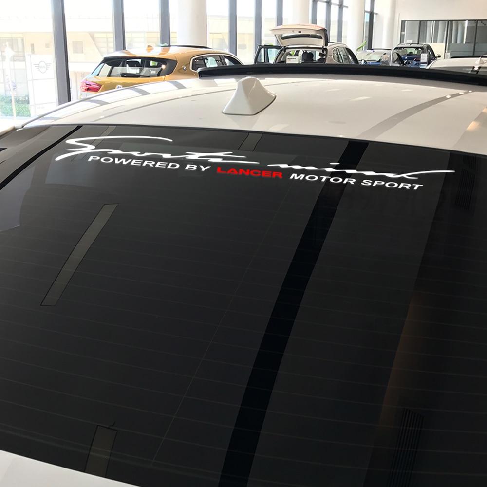 90*12CM Motor deportivo coche delantero trasero Calcomanía para parabrisas pegatinas para Mitsubishi Lancer 10 3 9 Viny Auto Decoración Accesorios reflectantes