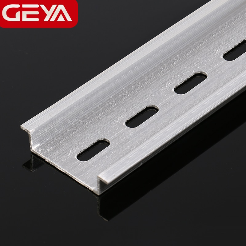 Free Shipping GEYA Guide Rail Aluminum Universal Type 35mm Slotted DIN Long 10cm 15cm 20cm 30cm Thickness 1mm