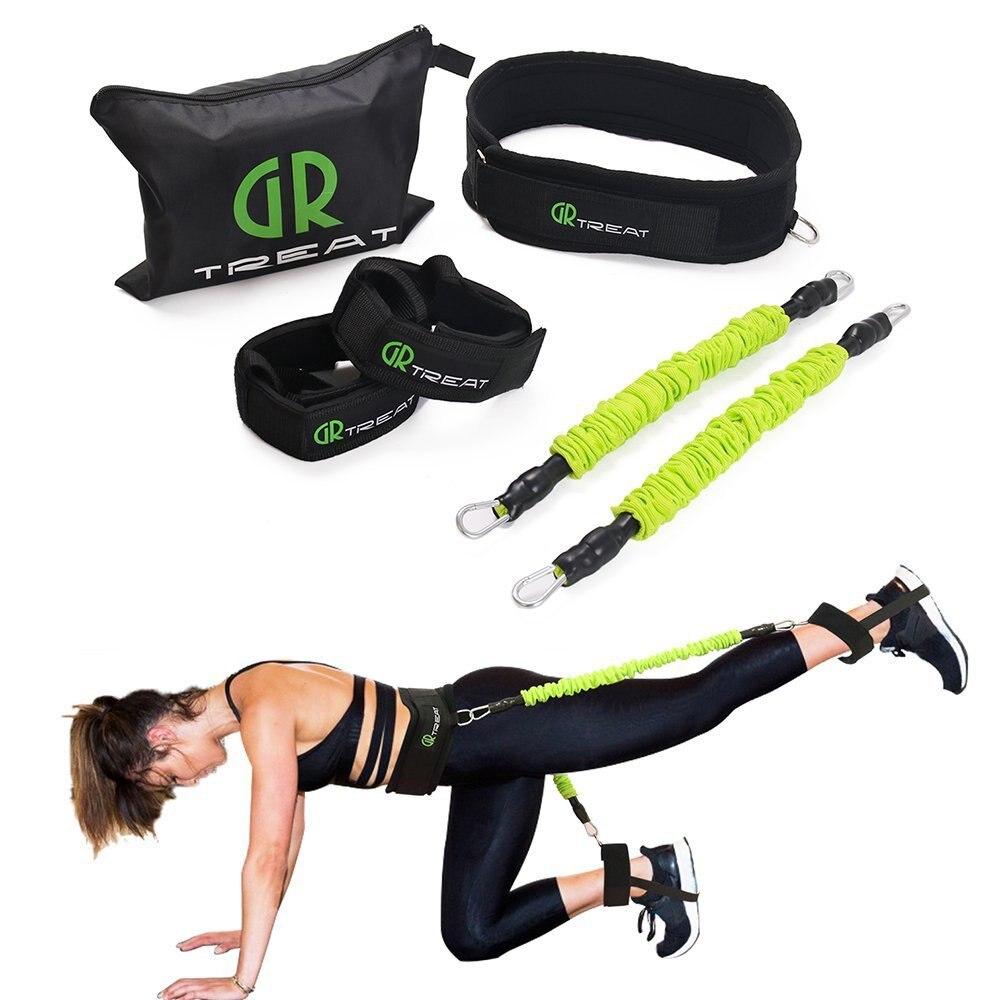 LEEASY entrenador de salto bandas elásticas cinturón de ejercicio para entrenamiento de salto entrenamiento de pierna Agility fuerza entrenador de rebote
