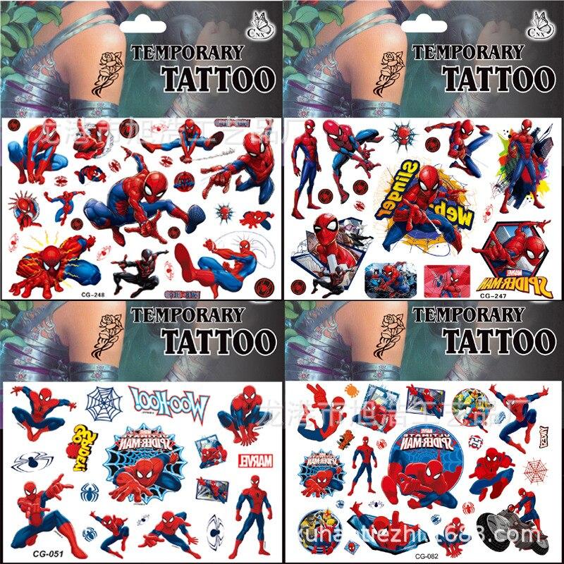pegatinas-de-los-vengadores-de-marvel-spiderman-hulk-capitan-america-tatuaje-pegatina-para-ninos-fiesta-de-cumpleanos-regalo-para-ninos