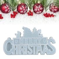 crystal epoxy resin mold christmas letters listed decor pendant silicone mould 83xf