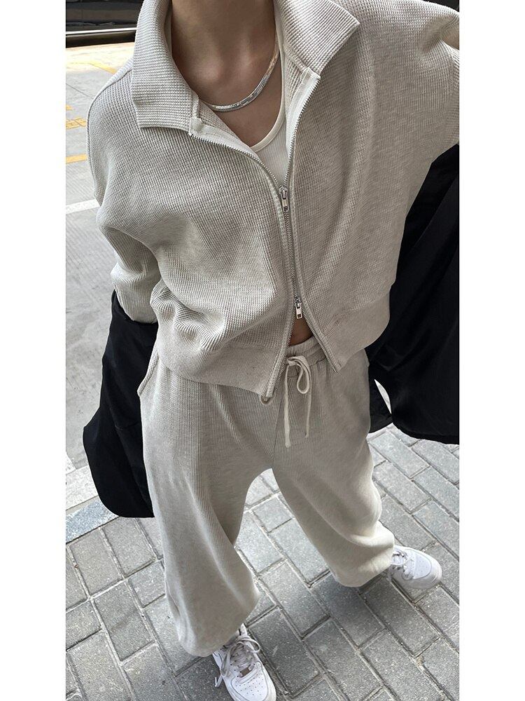 Sports Suit Hoodies Women Women's Early Autumn Fashion New Fashion Chic Leisure Sweater Two-piece Se