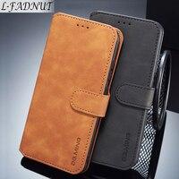 Чехол-бумажник для Xiaomi Mi 8, A2 Lite, Pocophone F1, Redmi 6, 6A, Note 6 Pro, кожаный, с магнитной застежкой, L-FADNUT