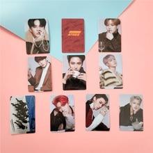 10 unids/pack Kpop ATEEZ tarjeta pegatinas nuevo álbum ACTON a Kpop Ateez Photocard de cristal foto Lomo tarjeta pegatinas