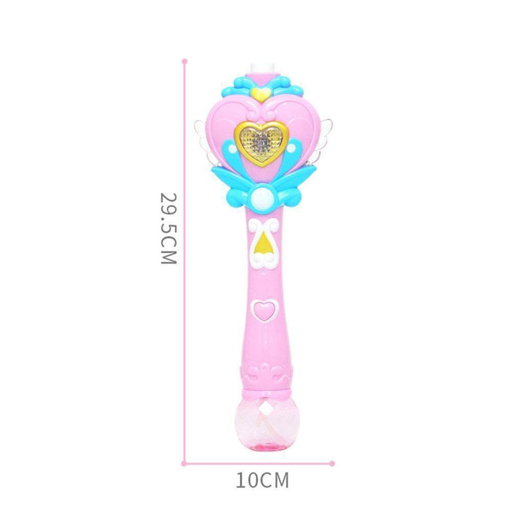 Electric Magic Wand Automatic Soap Bubble Blowing Gun Blower Machine Butterfly Wing Light Outdoor Children's Toy Kids Girls Toys  - buy with discount