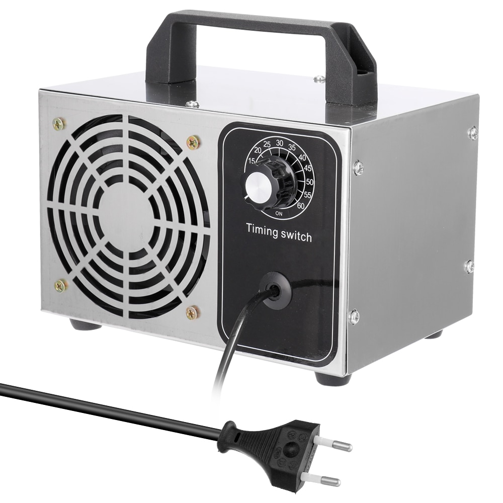 Ozonizador 10 g/h 220V ozonizador portátil filtro de aire purificador ventilador para el hogar coche formaldehído removedor ozonizador