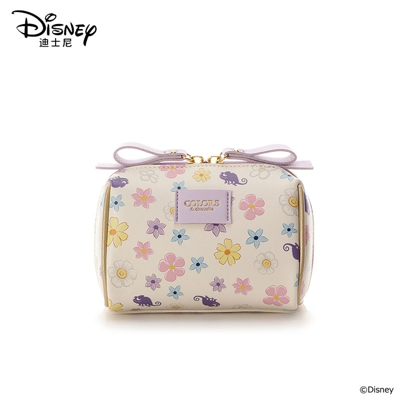 Disney New Rapunzel Cosmetic Bag Waterproof Clutch Travel Cosmetic Bag Zipper Pouch Women Make Up Bag Wash Bag Flowers Princess
