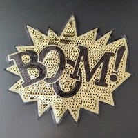 biker patches for clothing women 270mm boom black star sequined fabric sequins strange thingst patch t shirt clothes stickers