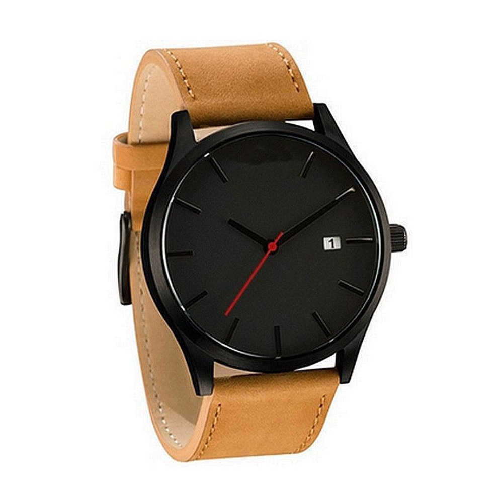 Couple Watch Sport Fashion Men Watch Leather Band Analog Quartz Round Wrist Business men watch Female Clock black ink world map dial watch natural bamboo wood watch fashion casual leather men quartz analog round wristwatches clock male