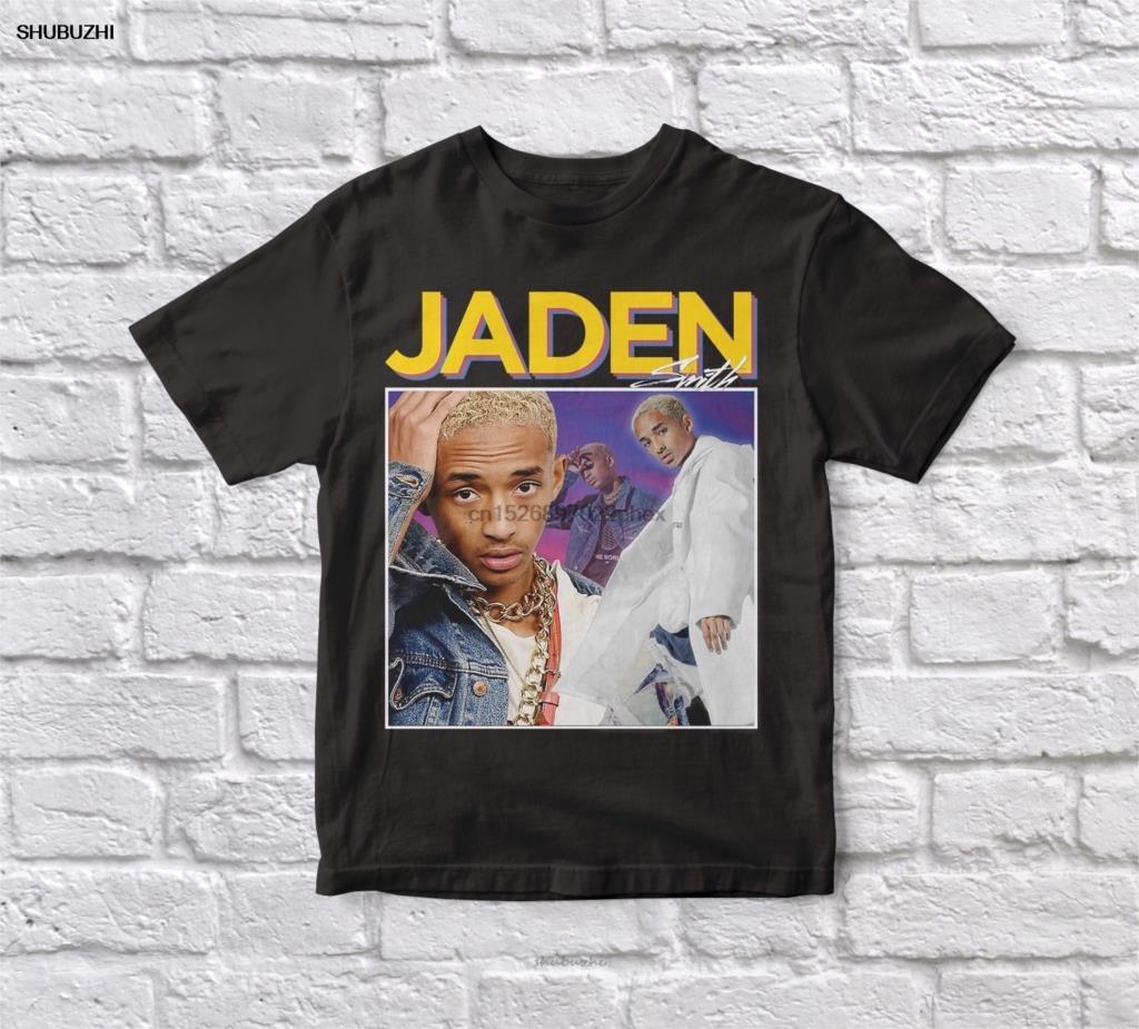 Jaden Smith 90s Vintage Unisex negro camiseta hombres algodón camiseta hombres verano moda camiseta euro tamaño