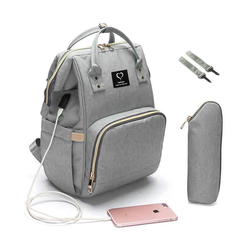 Рюкзак для подгузников, вместительная водонепроницаемая сумка для подгузников, дорожная сумка для кормления, сумки для ухода за ребенком, к...
