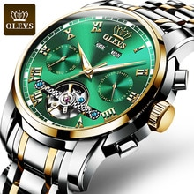 OLEVS Mens Mechanical Watches Stainless Steel Automatic Watch Luxury Waterproof Luminous Hand High Q