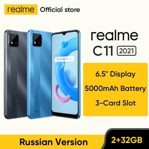 [World Premiere In Stock] realme C11 2021 NFC Global Russian Version 2GB RAM 32GB ROM 6.5
