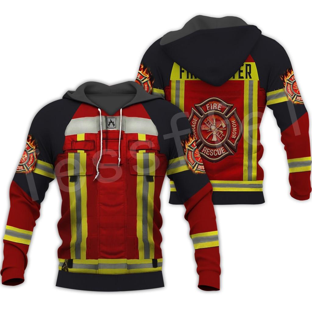 Tesselfel Firefighters Suit Firemen hero jersey de Harajuku NewFashion Casual 3DPrint Zip/sudaderas/chaqueta/hombres/mujeres B-4