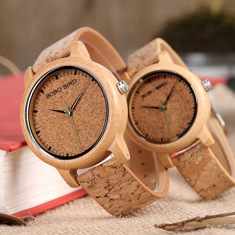 BOBO BIRD M12 Bamboo Wood Quartz Watch For Men And Women Wristwatches Top Brand Luxury With Japan Mo