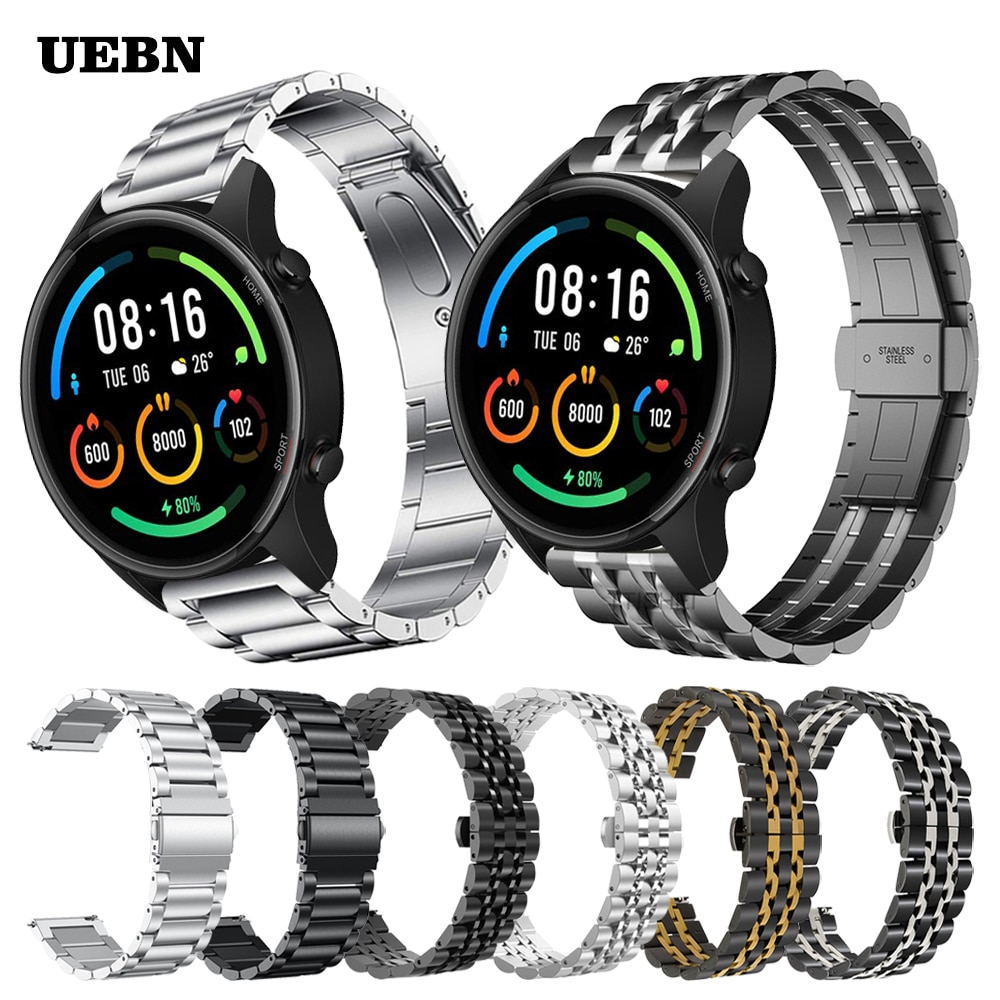 AliExpress - UEBN Classic Metal Stainless Steel Wrist Band For Xiaomi Mi Watch Color Strap for Mi Watch sports edition Bracelet Watchbands