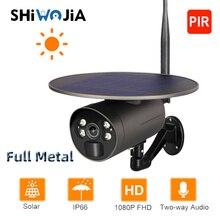 Shiwojia Solar Camera Wifi Ip Volledig Metalen Outdoor IP66 Pir Video Surveillance Camera Draadloze Batterij Low Power Twee-weg intercom