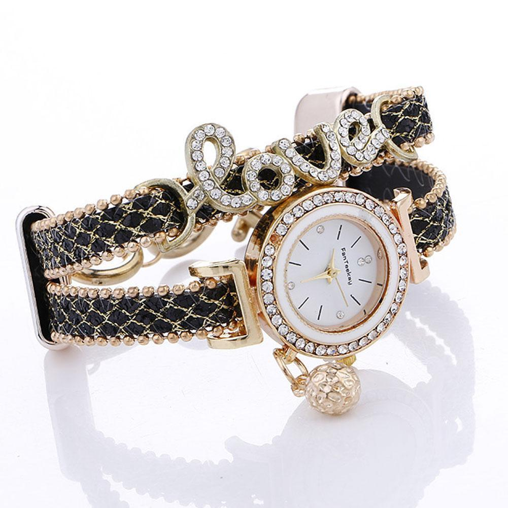 Letters Luxury Women Watches Fashion Ladies Quartz Day Clock Dress Watches Diamond Gift Watches Bracelet Crystal Valentines Gift ultra thin luxury claw setting lady women s watch fashion crystal hours dress bracelet woman clock girl s gift royal crown box
