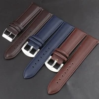 soft genuine leather strap brown quality business band surface calfskin men women replace watchband 22mm belt luxury watch band