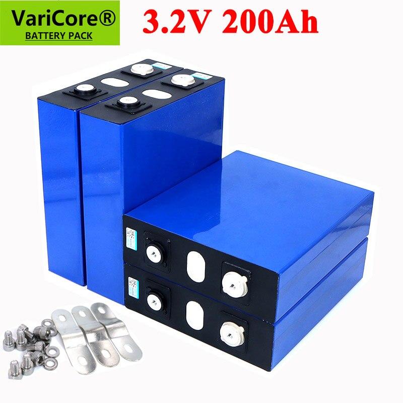 VariCore 3.2 فولت 200Ah LiFePO4 بطارية ليثيوم 3.2 فولت 3C بطارية أيون الليثيوم فوسفات ل 12 فولت 24 فولت بطارية العاكس مركبة RV