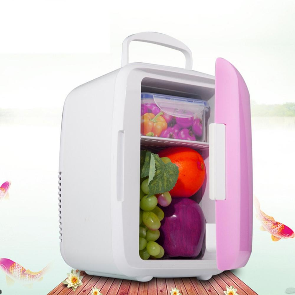 4L Refrigerator Freezer Heater Mini Car Fridge Cooler Warmer Electric Fridge Portable Icebox Travel Refrigerator Home Appliances