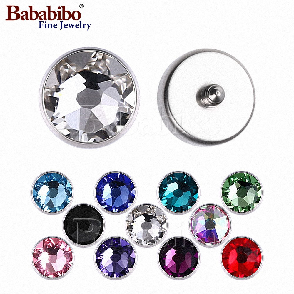 Microdermals Internally Threaded 1.2mm Titanium 3/4/5/7mm Crystal Jewel Top - Choose Jewel Color - P