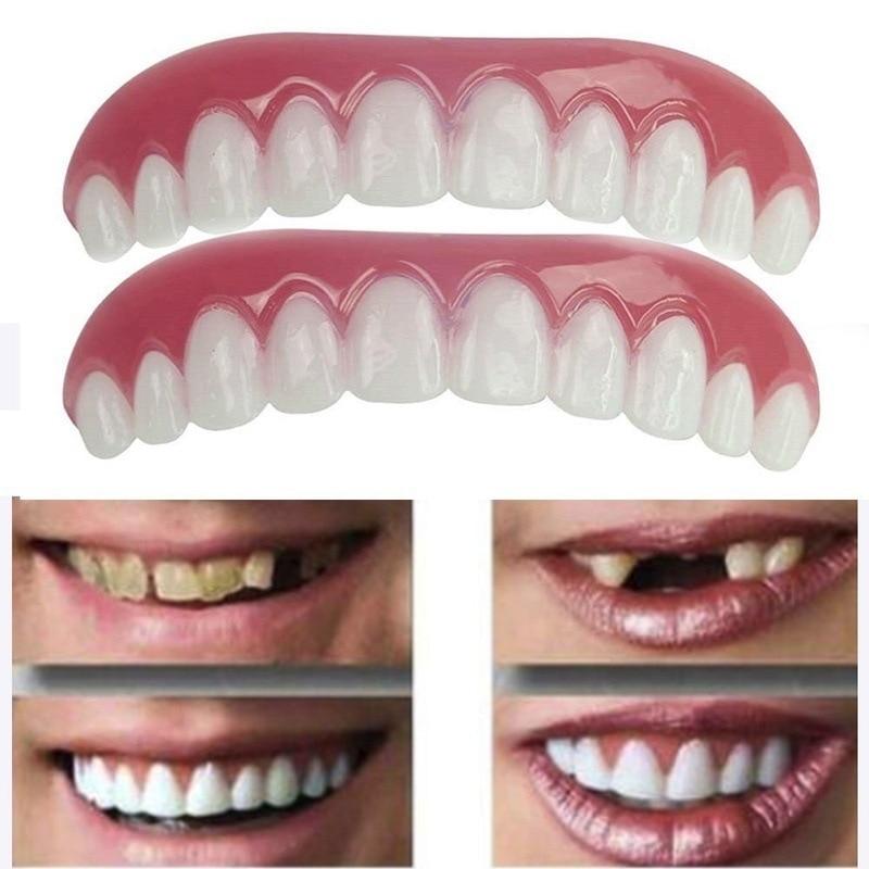 New False Tooth Stickers Simulation Teeth Whitening Dentures Paste Braces Upper Tooth Cover Perfect Smile Comfort Teeth Veneers