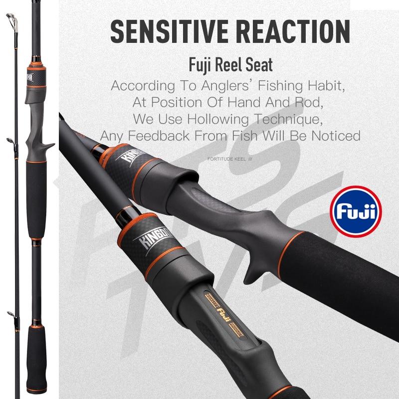 Kingdom Keel-III Carbon Fiber Fishing Rods Spinning Casting All FUJI Accessories Feeder Rod L MLM MH Carp Bass Fishing Tackles enlarge