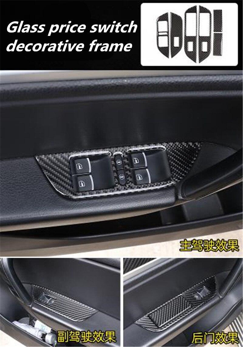 6 unids/lote pegatinas de coche epoxi fibra de carbono vidrio precio interruptor con marco decorativo para 2011-2018 Volkswagen VW Touareg