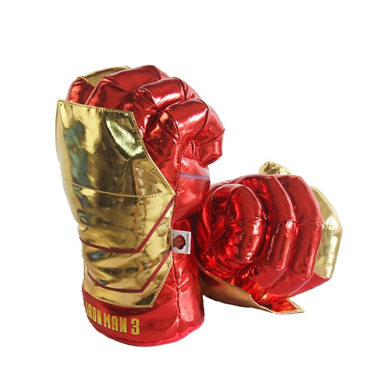 33cm Marvel avengers Endgame Incredible Superhero Figure Spider man the Hulks toys Iron Man boxing Gloves boy gift Hulk Gloves