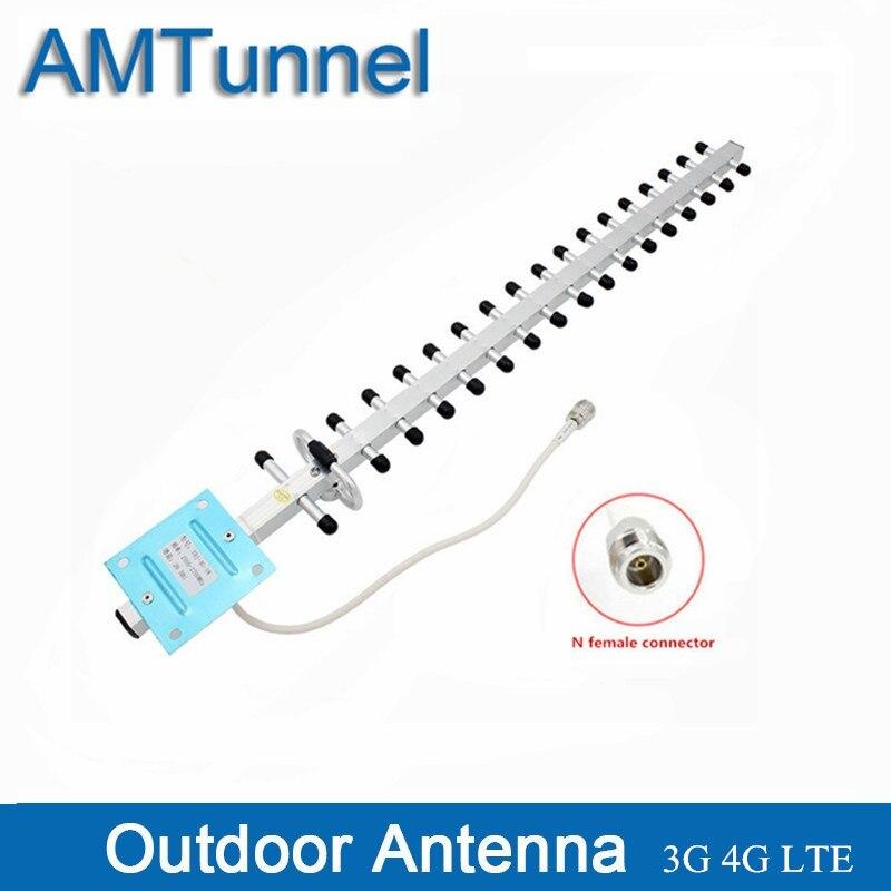 3G 4G антенна 1710-2170Mhz yagi наружная антенна N female 20dBi направленная для мобильных усилителей сигнала