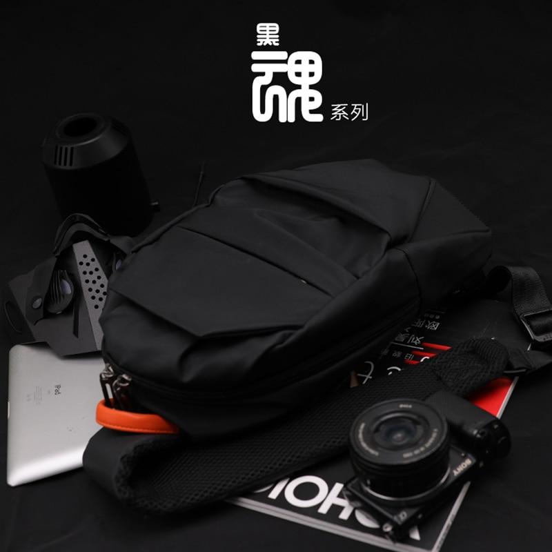 FYUZE Simple Shoulder Sling Bag Waterproof Men Anti-theft Male Chest Bag Men Messenger Bag Crossbody