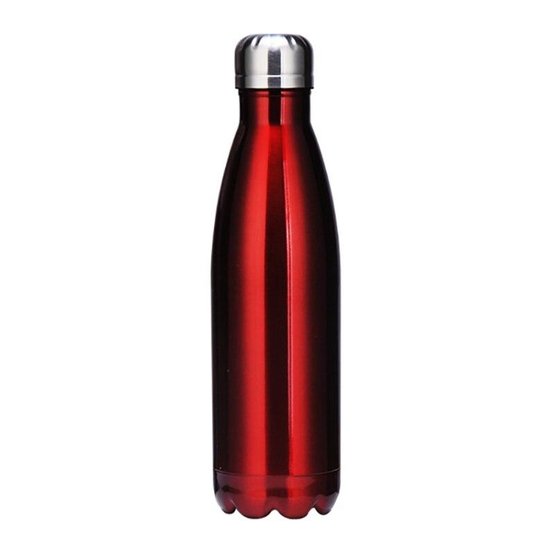 SEWS-Botellas de agua con aislamiento al vacío de doble pared de acero inoxidable de 500ml, a prueba de fugas, botella para bebidas frías y calientes para exteriores Sp