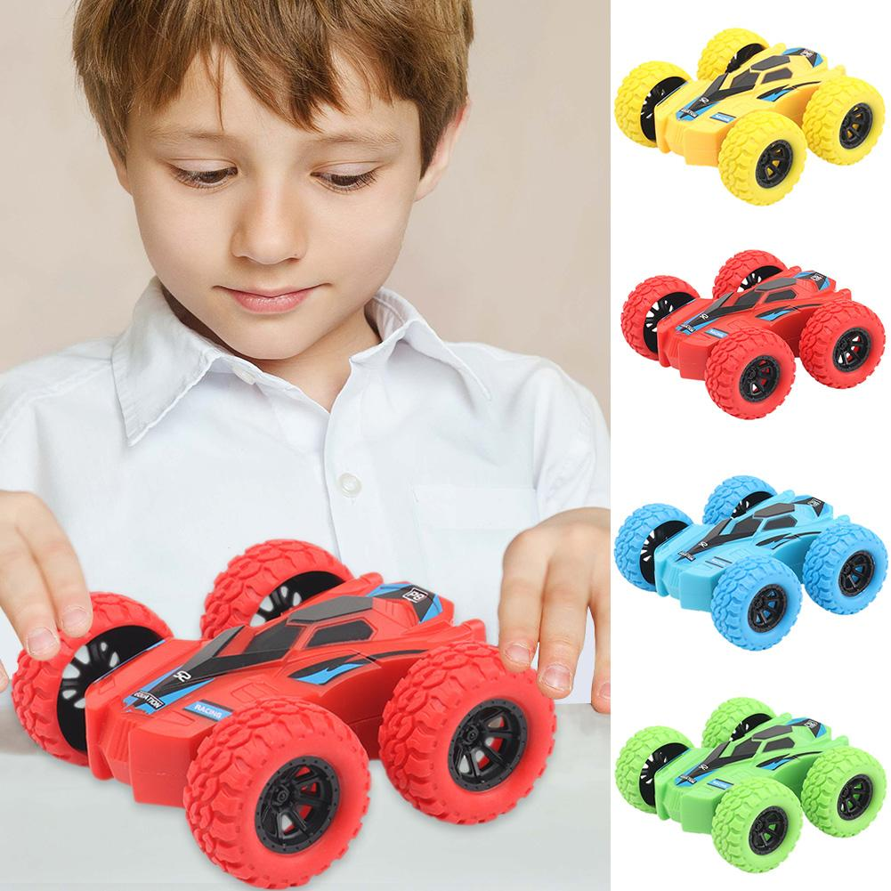 Kids Toy Car Fun Double-Side Vehicle Inertia Safety Crashworthiness and Fall Resistance Shatter-Proof Model for Child