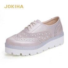 Primavera 2020, zapatos de cuero genuino para mujer, mocasines de plataforma plana para mujer, zapatos casuales de moda para mujer