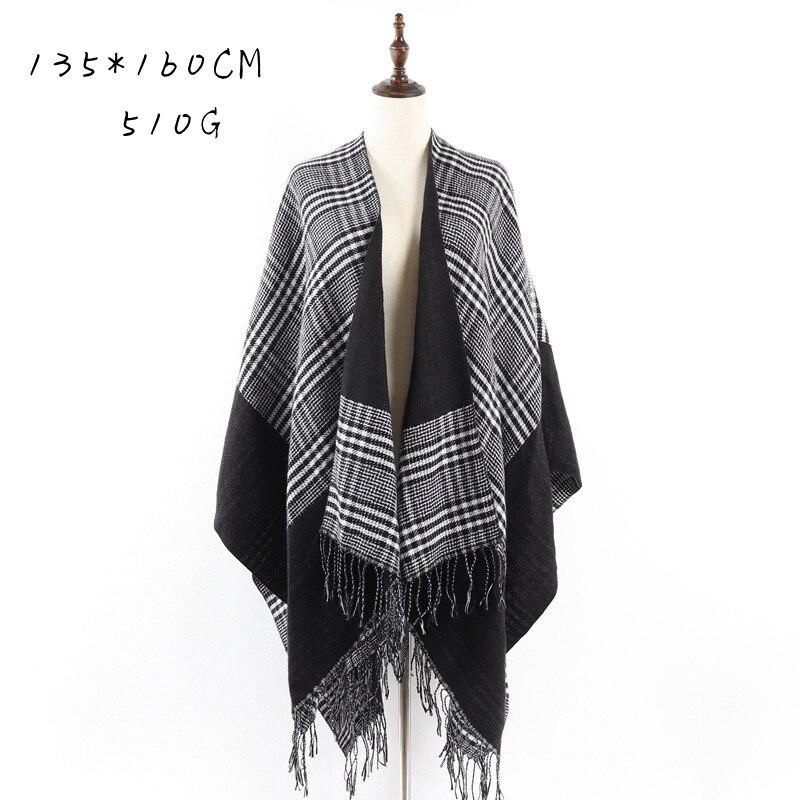 Bufanda de alta calidad para señora nueva, de invierno, Houndstooth, patrón a cuadros, versátil, cálido, de Cachemira, bufandas, Pashmina, Ponchos y capas