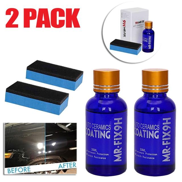 2PCS Bottles Hydrophobic Liquid 30ml 9H Hardness Ceramic Glass Coating Car Washing Maintenance Paint Care
