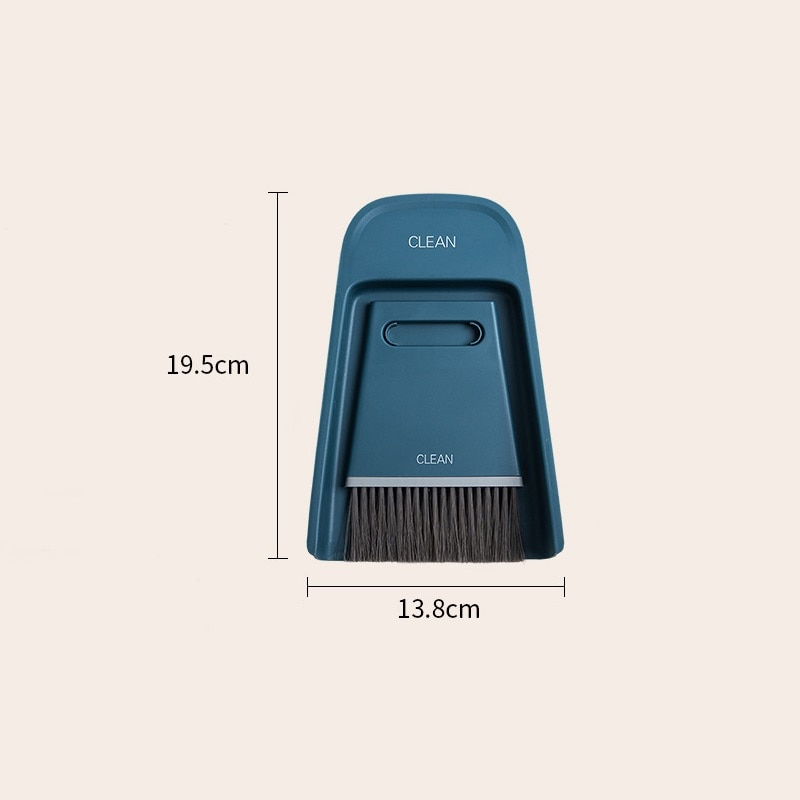 Mini Broom Dustpans Combination Set Soft Hair Magic Broom Sweeping Desktop Cleaning Brush Wiper Scratch Household Cleaning Tools enlarge