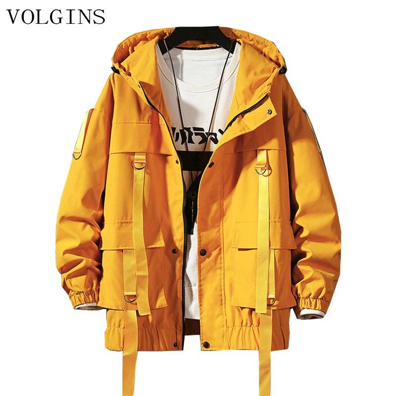 Прямая поставка, уличная одежда, Весенняя мужская куртка в стиле сафари, Мужская черная ветровка в стиле Харадзюку, мужская куртка оверсайз ...