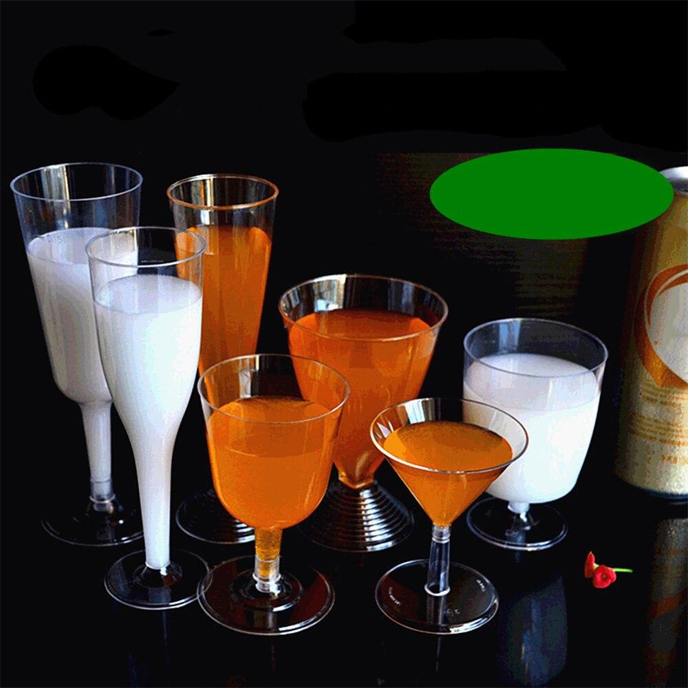 Copa de cristal de vino tinto 2020, copas de champán desechables de plástico, copas para fiesta de cóctel, bebidas para boda, cocina occidental de Navidad