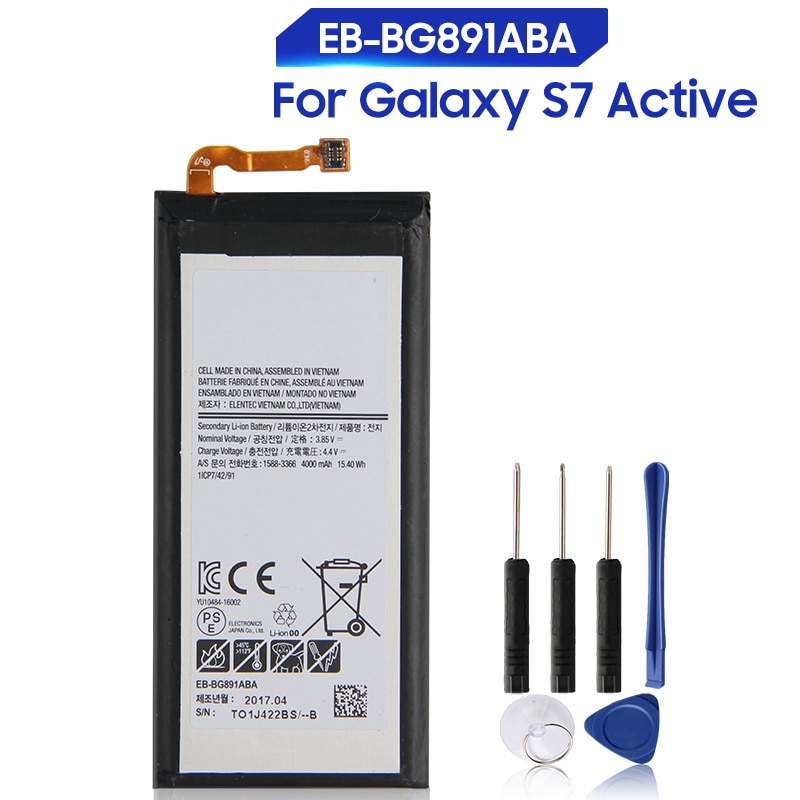 new genuine battery 4000mah for condor bt621 battery Original Replacement Samsung Battery EB-BG891ABA For Samsung Galaxy S7 Active Genuine Phone Battery 4000mAh