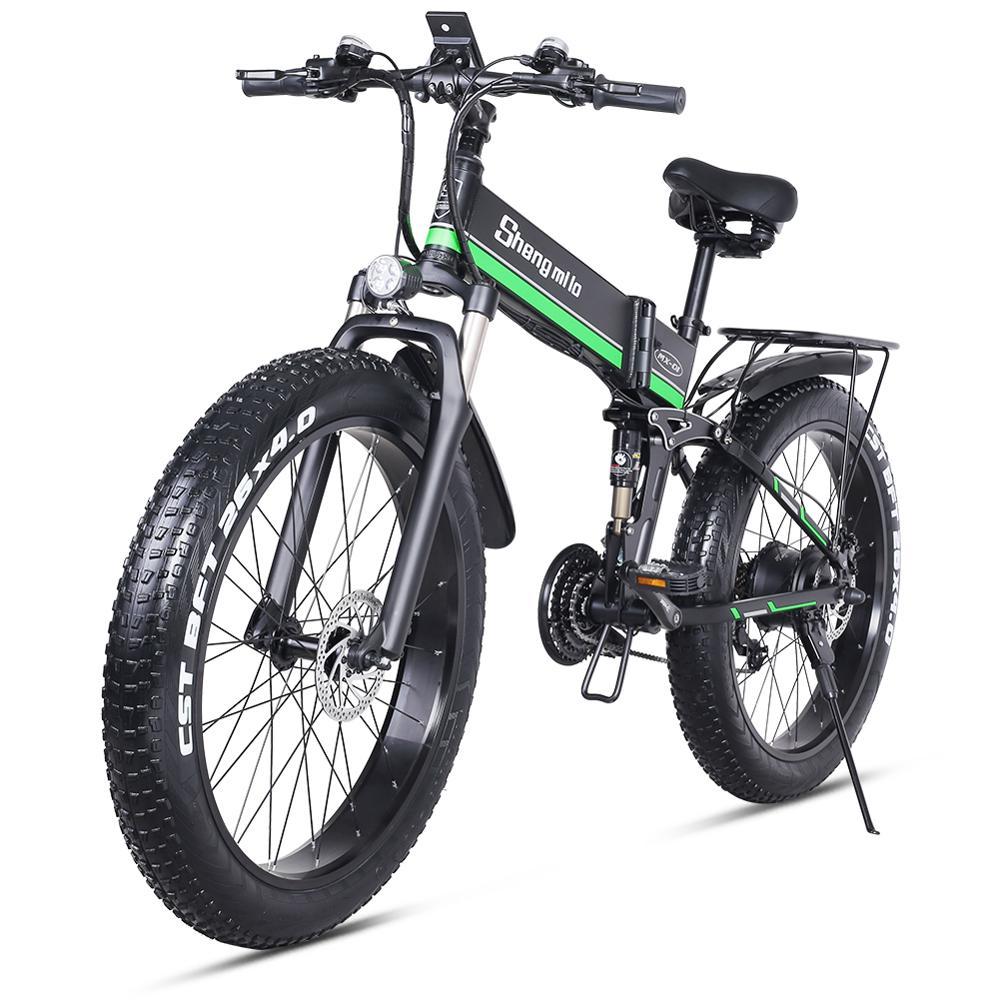 MX01 26 дюймов Электрический велосипед Foding Mountian велосипед Fatbike велосипед для взрослых с мотором 48V 1000W, 3,5