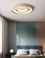 nordic modern crystal ceiling lights led living room lamp for bedroom dining room design acrylic ceiling lamp black color