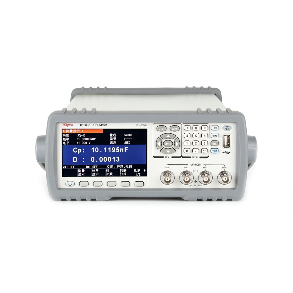Tonghui-جهاز اختبار الدقة الرقمي TH2832 ، الجسر الكهربائي عالي التردد ، مقاومة الحث ، السعة ، LCR