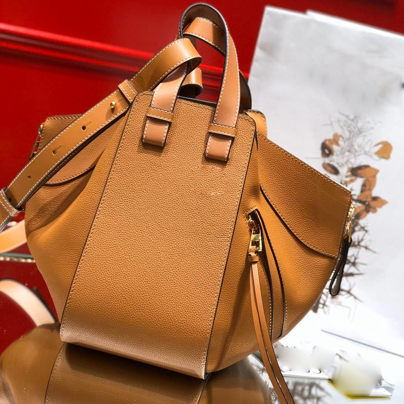 Yousu جلد طبيعي العلامة التجارية تصميم أرجوحة أرجوحة دلو صغير سعة كبيرة حقيبة كروسبودي موضة مزدوجة الجناح حقيبة كتف